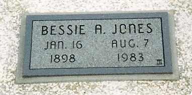 JONES, BESSIE A - Labette County, Kansas   BESSIE A JONES - Kansas Gravestone Photos