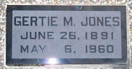 JONES, GERTIE M - Labette County, Kansas | GERTIE M JONES - Kansas Gravestone Photos