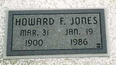 JONES, HOWARD F - Labette County, Kansas | HOWARD F JONES - Kansas Gravestone Photos