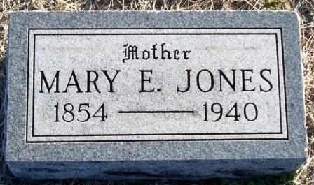 JONES, MARY E. - Labette County, Kansas | MARY E. JONES - Kansas Gravestone Photos