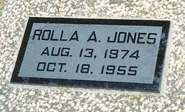JONES, ROLLA ALVIN - Labette County, Kansas   ROLLA ALVIN JONES - Kansas Gravestone Photos