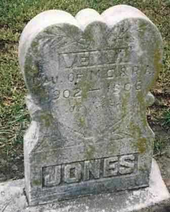 JONES, VERNA - Labette County, Kansas | VERNA JONES - Kansas Gravestone Photos