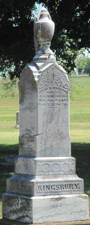 KINGSBURY, JULIA A - Labette County, Kansas   JULIA A KINGSBURY - Kansas Gravestone Photos