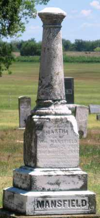 MANSFIELD, MARTHA - Labette County, Kansas | MARTHA MANSFIELD - Kansas Gravestone Photos