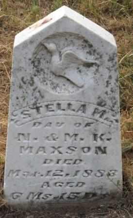 MAXSON, ESTELLA M - Labette County, Kansas | ESTELLA M MAXSON - Kansas Gravestone Photos