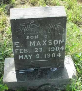 MAXSON, LESTER - Labette County, Kansas | LESTER MAXSON - Kansas Gravestone Photos