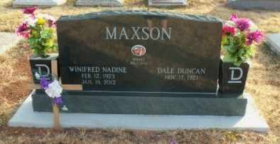 MAXSON, WINIFRED NADINE - Labette County, Kansas   WINIFRED NADINE MAXSON - Kansas Gravestone Photos