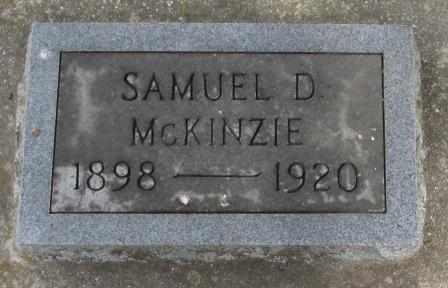 MCKENZIE, SAMUEL D - Labette County, Kansas   SAMUEL D MCKENZIE - Kansas Gravestone Photos