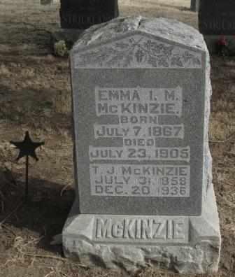 MCKENZIE, EMMA I M - Labette County, Kansas | EMMA I M MCKENZIE - Kansas Gravestone Photos
