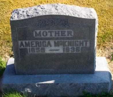 MCKNIGHT, CATHERINE AMERICA - Labette County, Kansas   CATHERINE AMERICA MCKNIGHT - Kansas Gravestone Photos