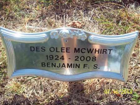 MCWHIRT, DES OLEE - Labette County, Kansas | DES OLEE MCWHIRT - Kansas Gravestone Photos