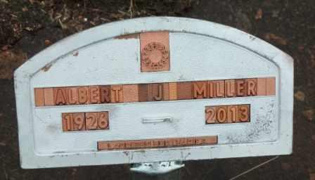 MILLER, ALBERT J   (VETERAN WWII) - Labette County, Kansas | ALBERT J   (VETERAN WWII) MILLER - Kansas Gravestone Photos