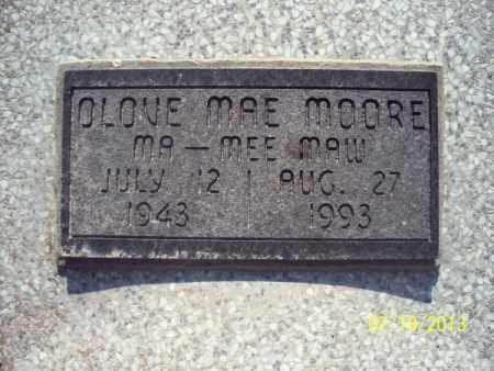 MOORE, OLOVE MAE - Labette County, Kansas   OLOVE MAE MOORE - Kansas Gravestone Photos