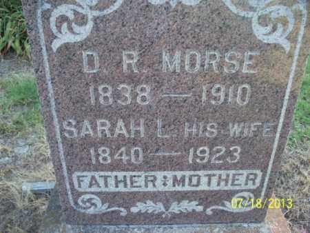 MORSE, SARAH L - Labette County, Kansas | SARAH L MORSE - Kansas Gravestone Photos