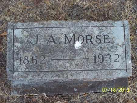 MORSE, J  A  - Labette County, Kansas | J  A  MORSE - Kansas Gravestone Photos