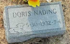 NADING, DORIS - Labette County, Kansas   DORIS NADING - Kansas Gravestone Photos