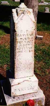 OAKLEAF, BENJAMIN PETER - Labette County, Kansas | BENJAMIN PETER OAKLEAF - Kansas Gravestone Photos