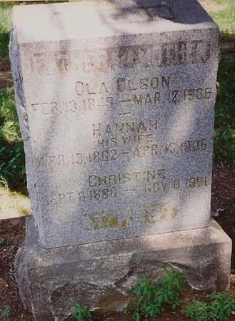 PETERSON OLSON, HANNAH - Labette County, Kansas | HANNAH PETERSON OLSON - Kansas Gravestone Photos