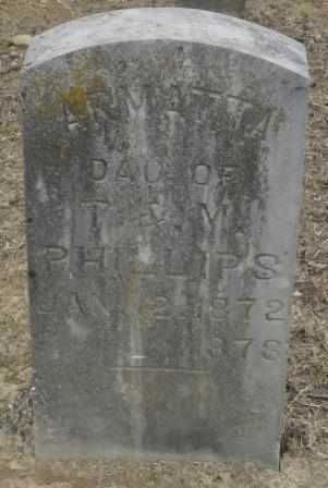 PHILLIPS, ARMATTA - Labette County, Kansas | ARMATTA PHILLIPS - Kansas Gravestone Photos