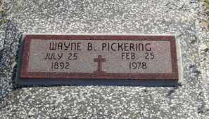 PICKERING, WAYNE B - Labette County, Kansas | WAYNE B PICKERING - Kansas Gravestone Photos