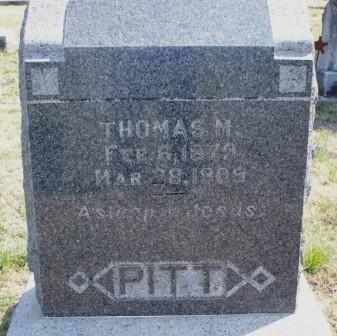 PITT, THOMAS M - Labette County, Kansas | THOMAS M PITT - Kansas Gravestone Photos