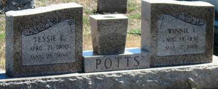 POTTS, TESSIE E - Labette County, Kansas | TESSIE E POTTS - Kansas Gravestone Photos