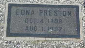 PRESTON, EDNA BELL - Labette County, Kansas   EDNA BELL PRESTON - Kansas Gravestone Photos