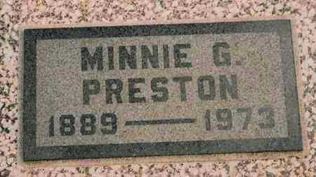 PRESTON, MINNIE GAIL - Labette County, Kansas   MINNIE GAIL PRESTON - Kansas Gravestone Photos