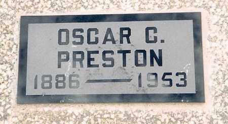 PRESTON, OSCAR CAMPBELL - Labette County, Kansas | OSCAR CAMPBELL PRESTON - Kansas Gravestone Photos