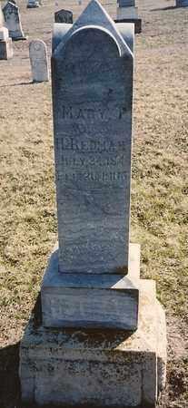 SWOPE REDMAN, MARY P - Labette County, Kansas   MARY P SWOPE REDMAN - Kansas Gravestone Photos
