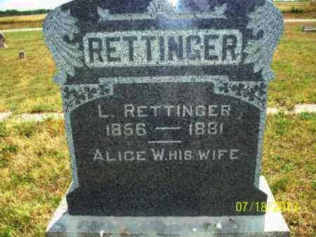 RETTINGER, L - Labette County, Kansas | L RETTINGER - Kansas Gravestone Photos
