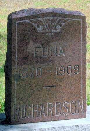 RICHARDSON, EDNA - Labette County, Kansas | EDNA RICHARDSON - Kansas Gravestone Photos
