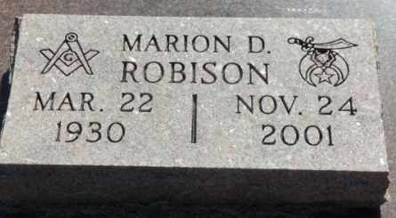 ROBISON, MARION D - Labette County, Kansas | MARION D ROBISON - Kansas Gravestone Photos