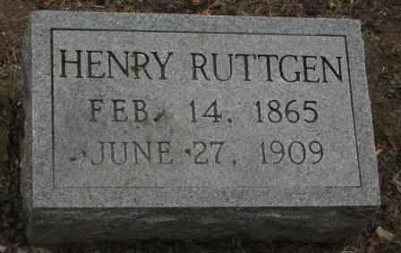 RUTTGEN, HENRY - Labette County, Kansas | HENRY RUTTGEN - Kansas Gravestone Photos