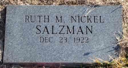 NICKEL SALZMAN, RUTH MARIE - Labette County, Kansas   RUTH MARIE NICKEL SALZMAN - Kansas Gravestone Photos
