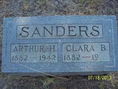 SANDERS, ARTHUR H - Labette County, Kansas | ARTHUR H SANDERS - Kansas Gravestone Photos