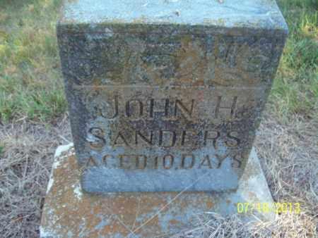 SANDERS, JOHN H - Labette County, Kansas | JOHN H SANDERS - Kansas Gravestone Photos