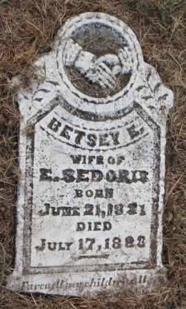 SEDORIS, BETSEY E - Labette County, Kansas | BETSEY E SEDORIS - Kansas Gravestone Photos