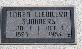 SUMMERS, LOREN LLEWLLYN - Labette County, Kansas | LOREN LLEWLLYN SUMMERS - Kansas Gravestone Photos