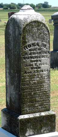 SUMMERS, ROSA M - Labette County, Kansas   ROSA M SUMMERS - Kansas Gravestone Photos