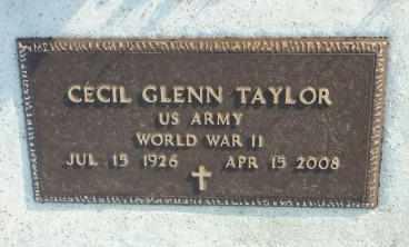 TAYLOR, CECIL GLENN   (VETERAN WWII) - Labette County, Kansas | CECIL GLENN   (VETERAN WWII) TAYLOR - Kansas Gravestone Photos