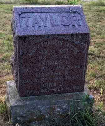 SHARP TAYLOR, MARY FRANCIS - Labette County, Kansas | MARY FRANCIS SHARP TAYLOR - Kansas Gravestone Photos