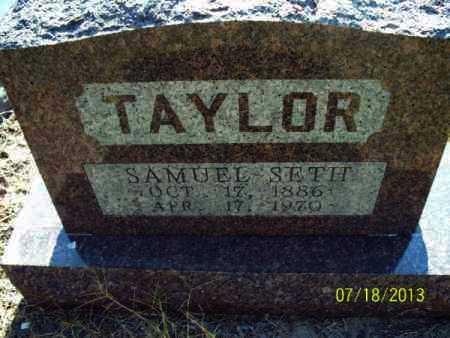 TAYLOR, SAMUEL SETH - Labette County, Kansas   SAMUEL SETH TAYLOR - Kansas Gravestone Photos