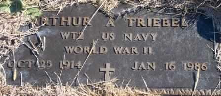 TRIEBEL, ARTHUR ALLEN   (VETERAN WWII) - Labette County, Kansas | ARTHUR ALLEN   (VETERAN WWII) TRIEBEL - Kansas Gravestone Photos
