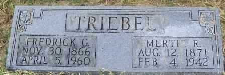 BRADBURY TRIEBEL, MERTIE REBECCA - Labette County, Kansas | MERTIE REBECCA BRADBURY TRIEBEL - Kansas Gravestone Photos