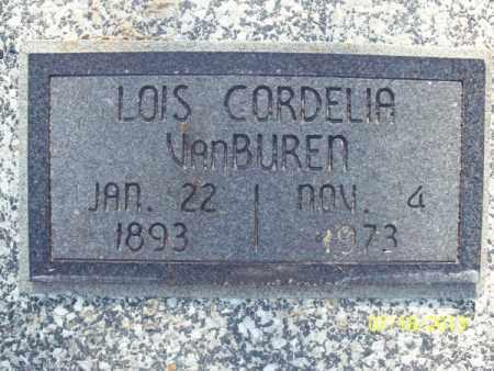 VANBUREN, LOIS CORDELIA - Labette County, Kansas | LOIS CORDELIA VANBUREN - Kansas Gravestone Photos