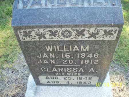 VANBUREN, CLARISSA A - Labette County, Kansas | CLARISSA A VANBUREN - Kansas Gravestone Photos