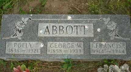 ABBOTT, POLLY - Leavenworth County, Kansas | POLLY ABBOTT - Kansas Gravestone Photos