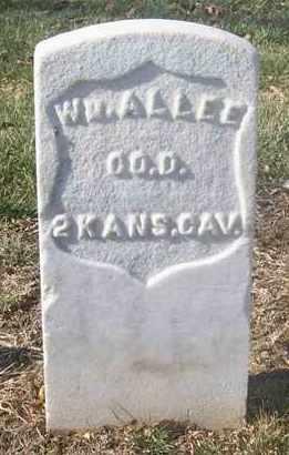 ALLEE, WILLIAM  (VETERAN UNION) - Leavenworth County, Kansas | WILLIAM  (VETERAN UNION) ALLEE - Kansas Gravestone Photos