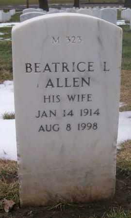 ALLEN, BEATRICE L - Leavenworth County, Kansas | BEATRICE L ALLEN - Kansas Gravestone Photos